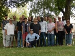 Photo de groupe des participant·e·s à la réunion de CA élargi à Angers en août 2017